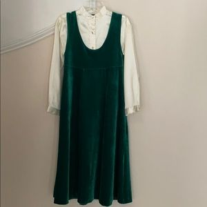 American Girl Green Jumper and Blouse
